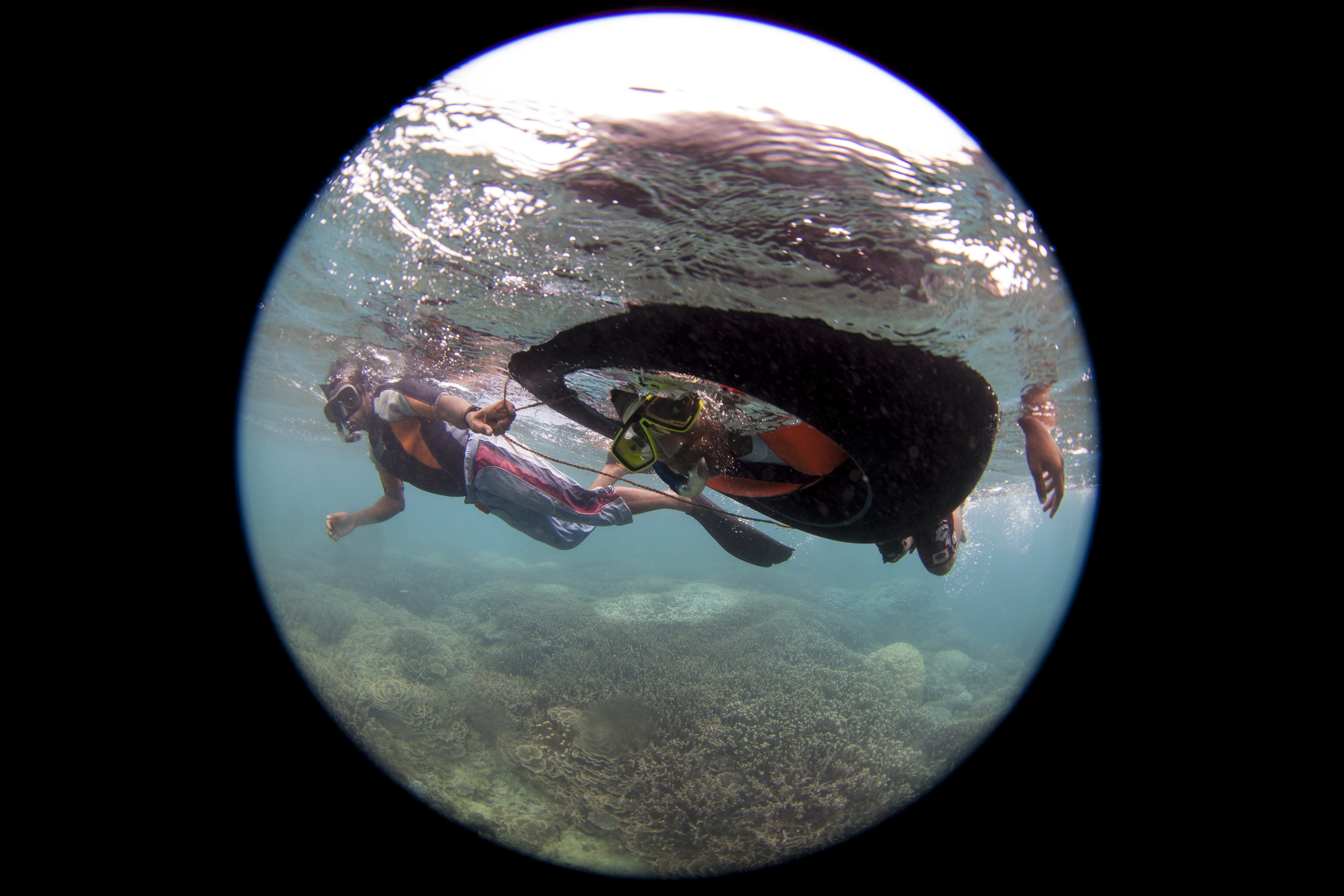 11_Local student snorkeling