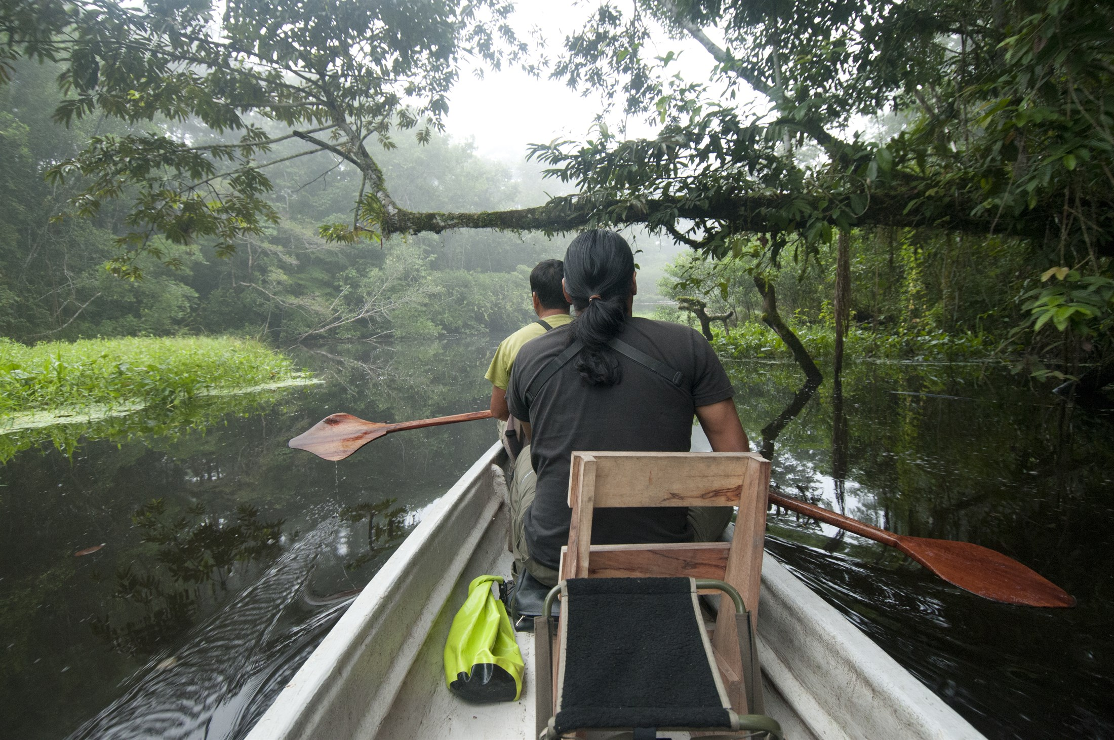 Guided by Indigenous People through the Yasuni National Park. Photo: Peter Prokosch