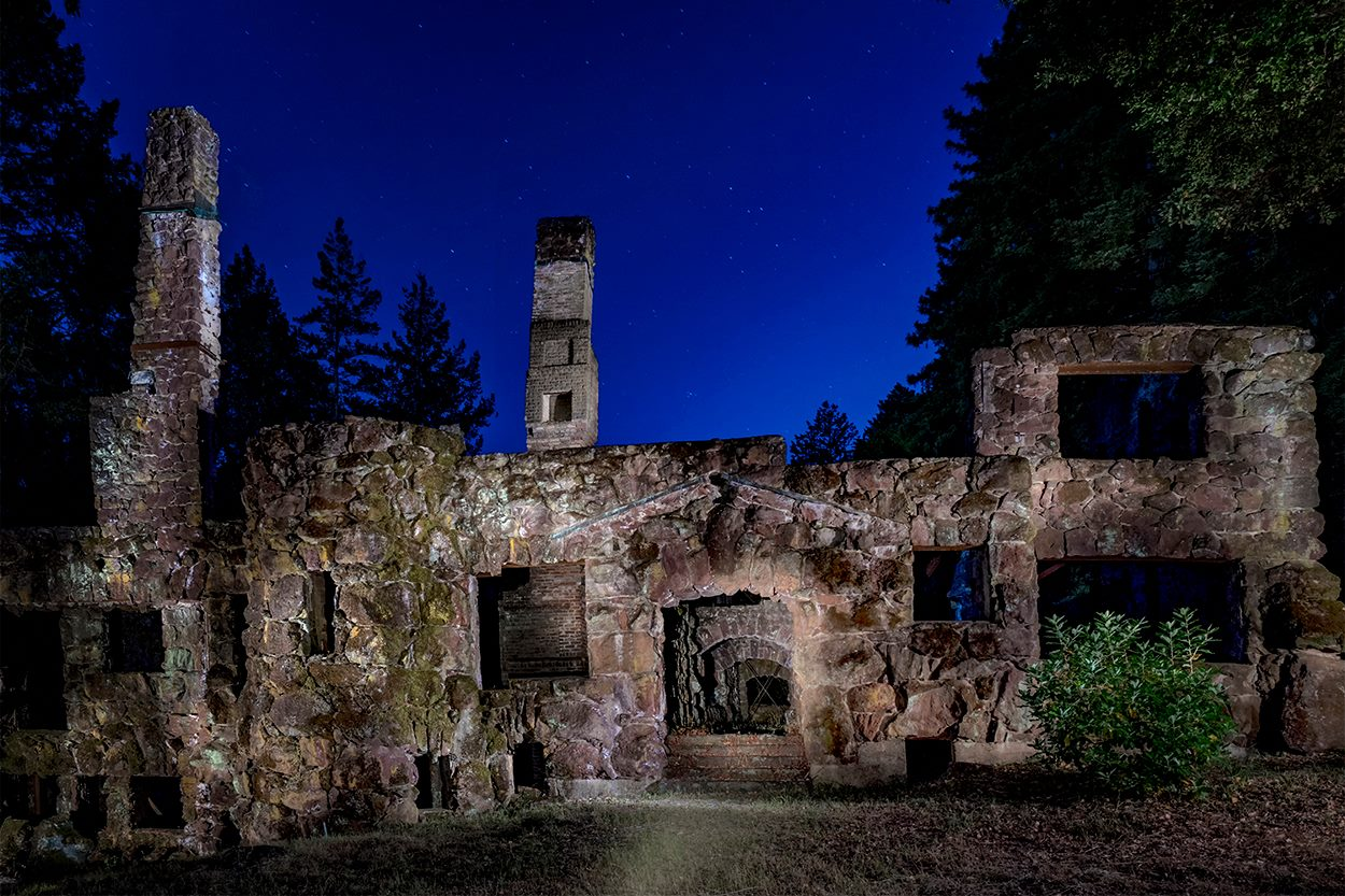 Burned manor