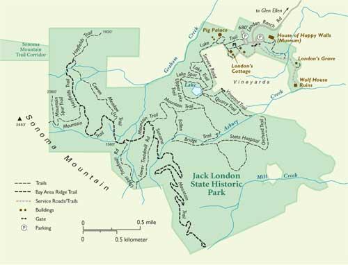 Jack London park map
