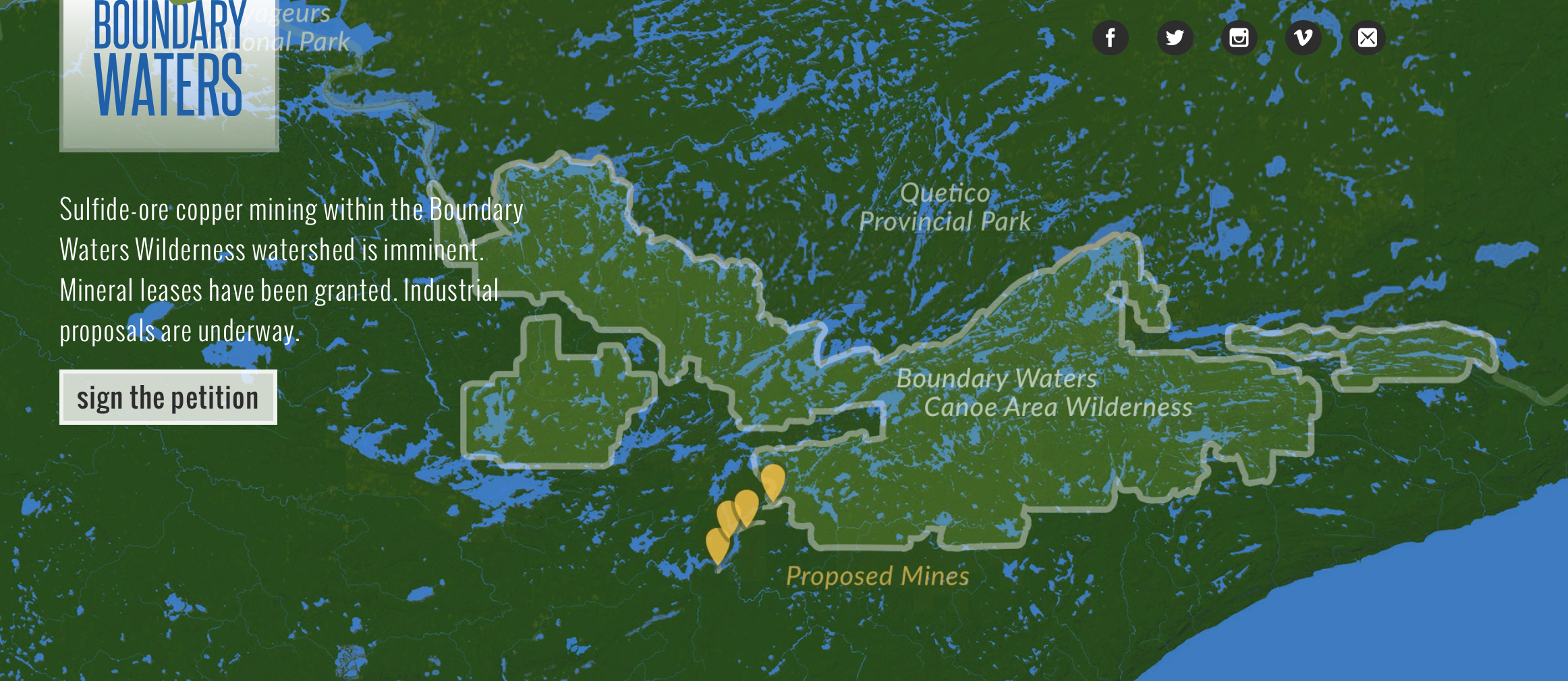 Boundary waters area map