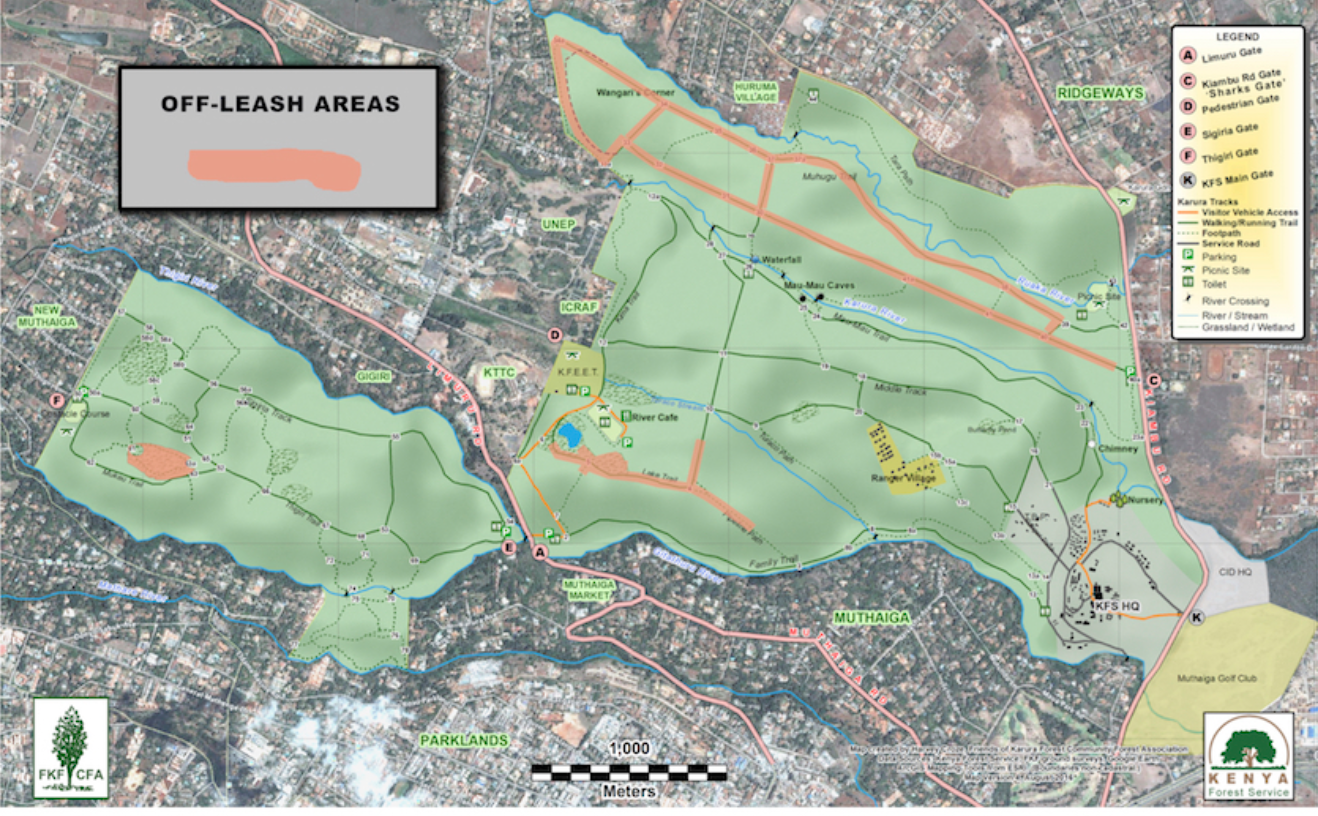 Karura Forest MAp