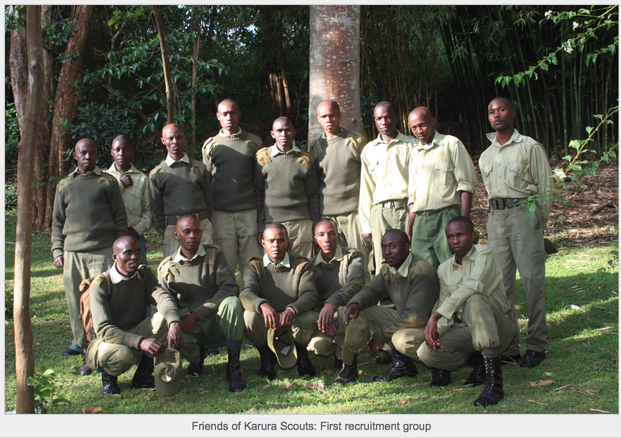 Friends of Karura Scouts: First recruitment group