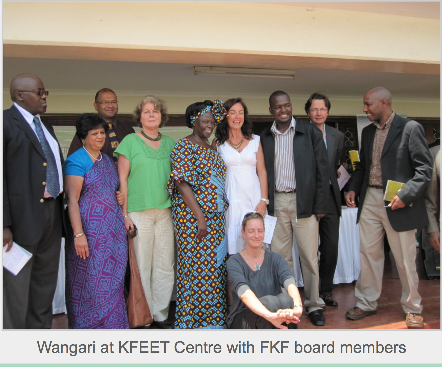 Wangari at KFEET Centre with FKF board members
