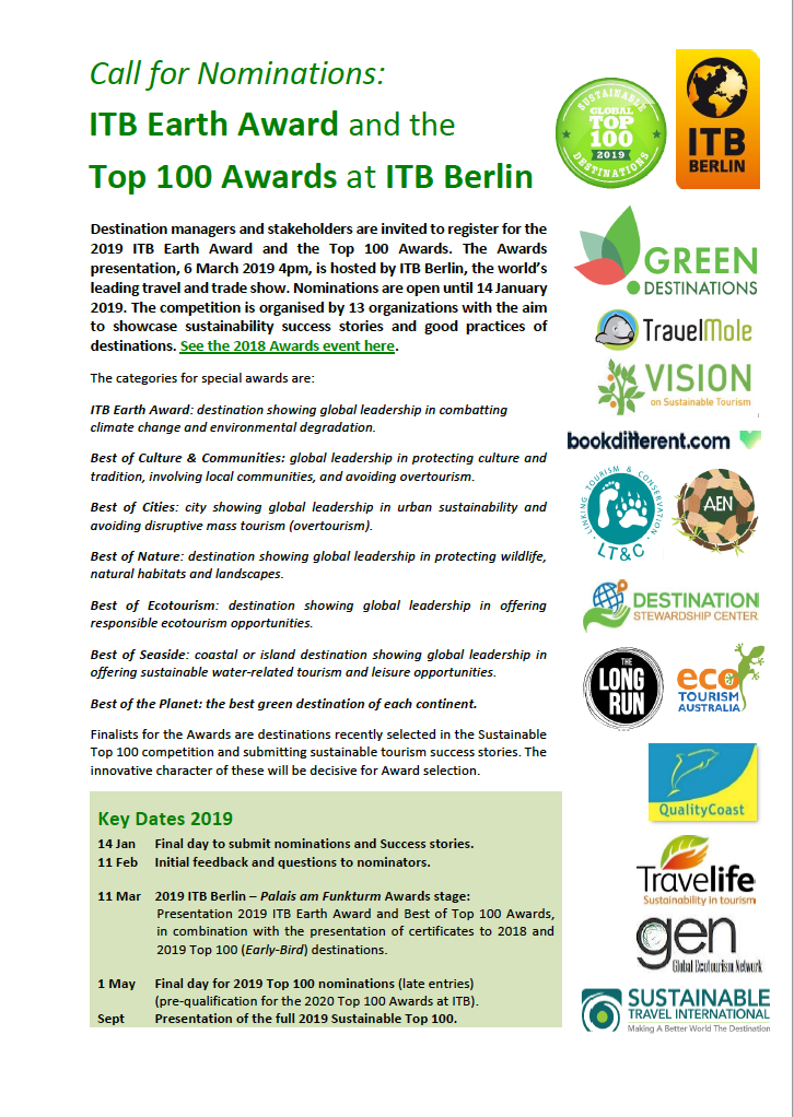 ITB Best of TOP 100 Green Destinations Ceremony @ ITB,