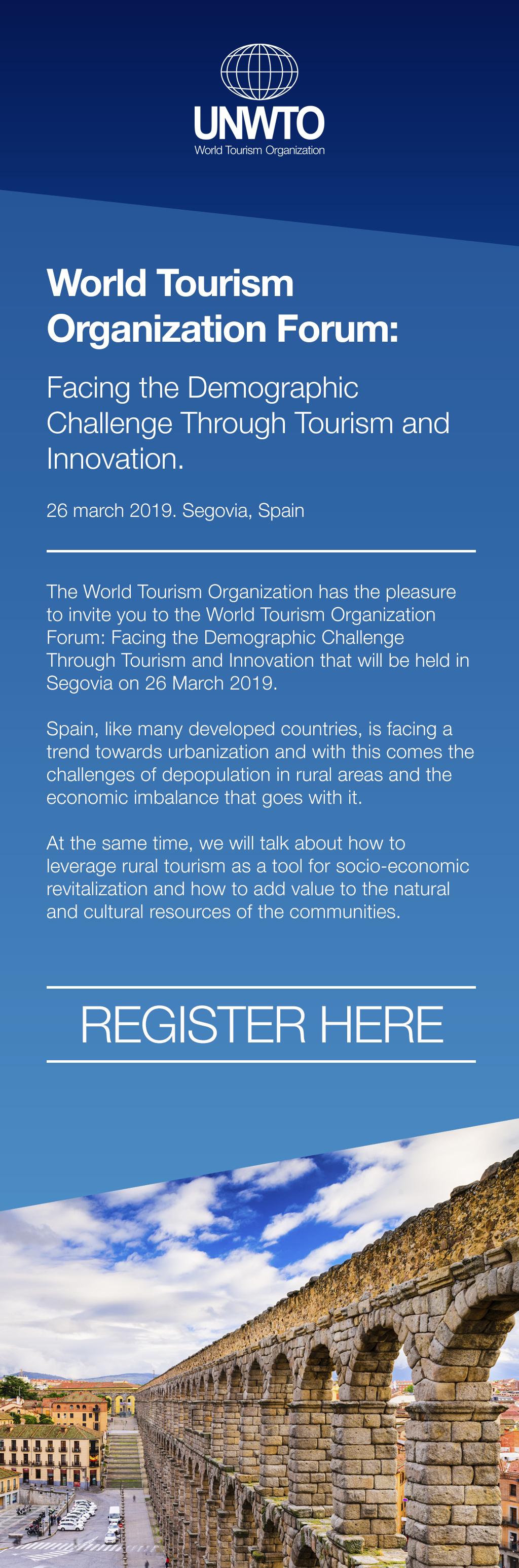 UNWTO Forum: Facing the Demographic Challenge through Tourism and Innovation @ Segovia, Spain