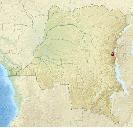 Location of Kahuzi-Biéga National Park