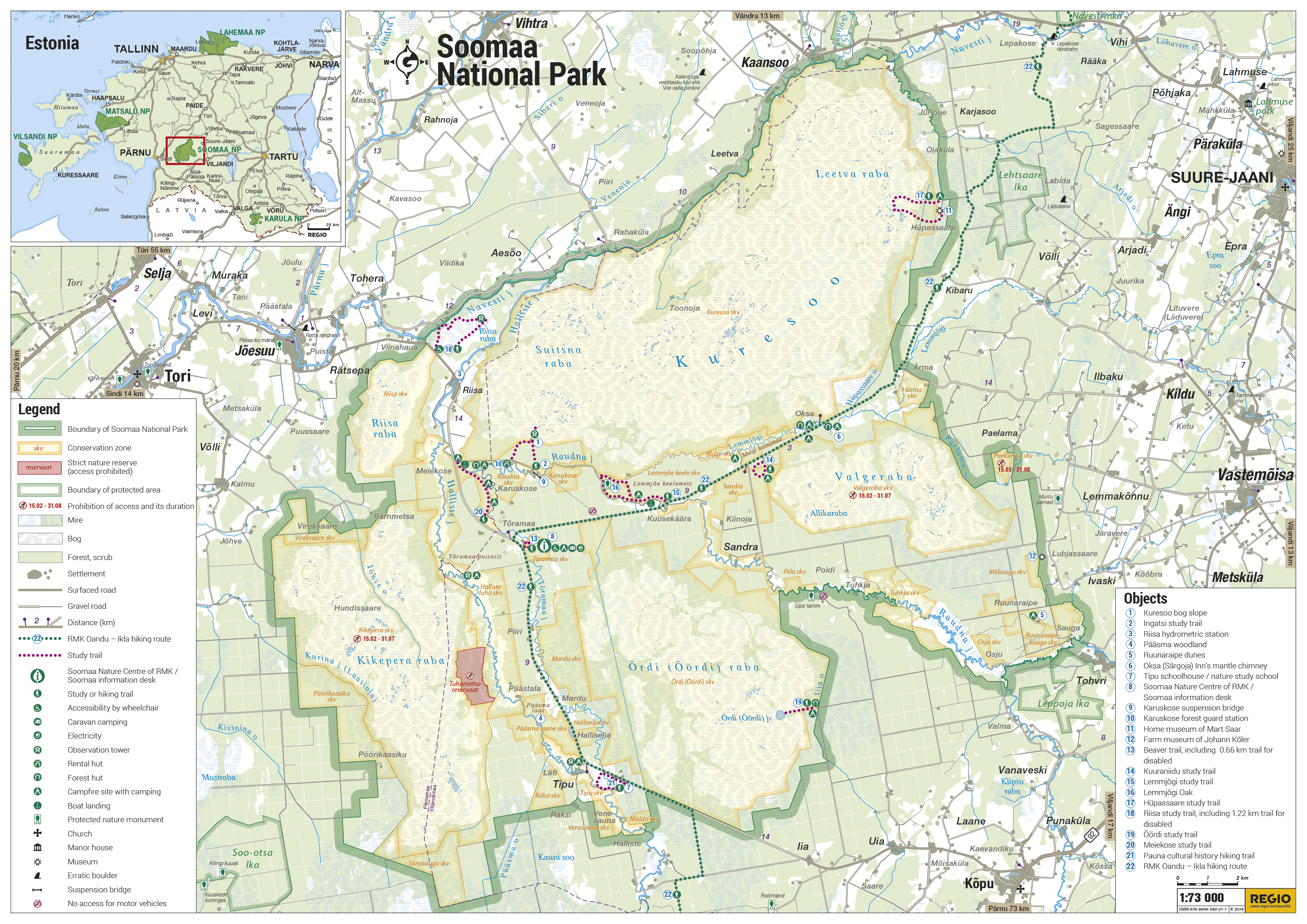 Map of Soomaa National Park