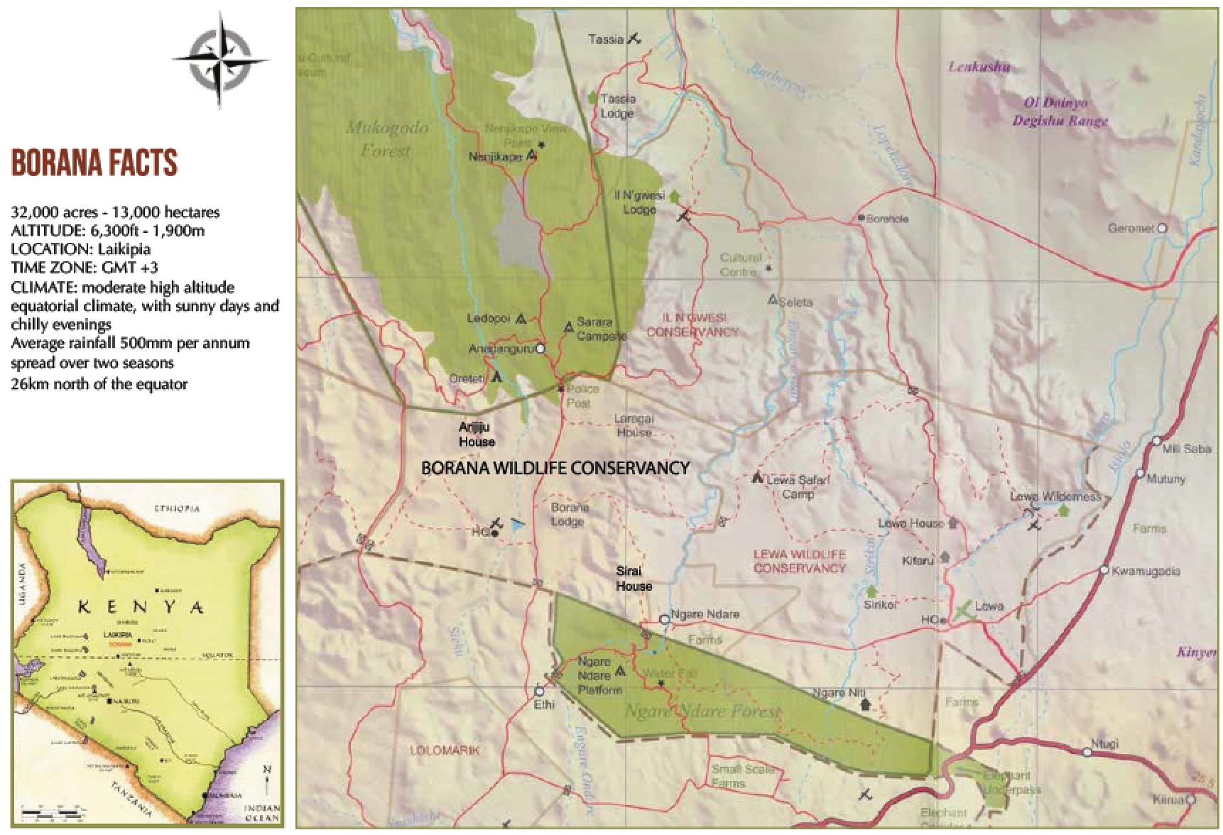 Map of the Borana Conservancy